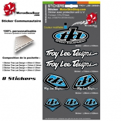 Planche Sticker Troy lee Designs Bleu