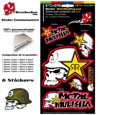 Pochette Sticker Metal Mulisha