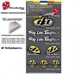 Planche Sticker Troy lee Designs Jaune