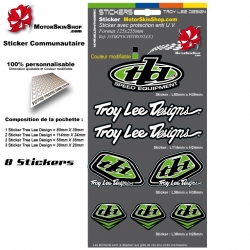 Planche Sticker Troy lee Designs Vert