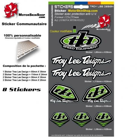 Pochette Sticker Troy lee Designs Vert