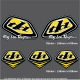 Pochette Sticker Troy lee Designs Jaune