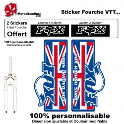 Sticker fourche Fox VTT vélo
