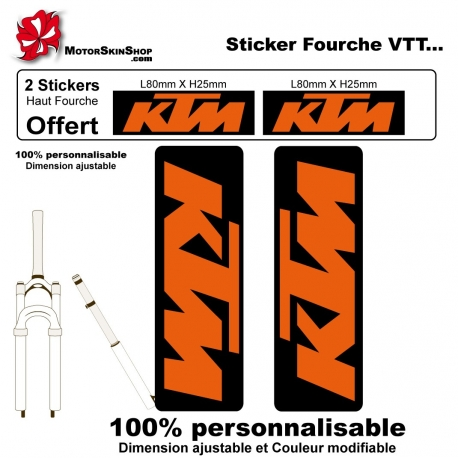 Sticker fourche vélo KTM VTT