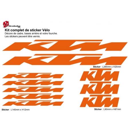 Sticker cadre vélo KTM