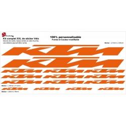 Sticker cadre KTM Vélo XXL