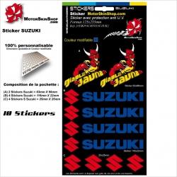 Planche Sticker Suzuki