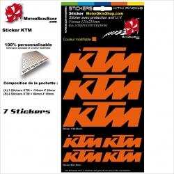 Planche Sticker KTM