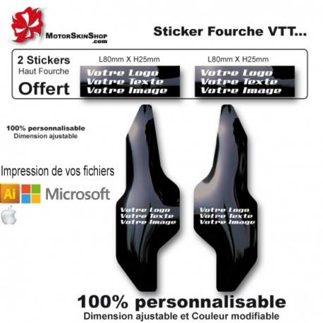 Impression de vos Fichiers Fourche VTT 100% personnalisable