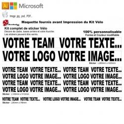 Impression de vos fichiers Sticker cadre vélo