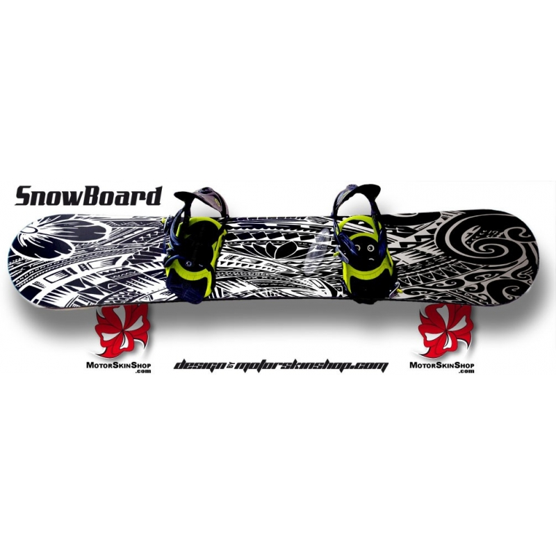 sticker tribal motor snowboard sticker aztèque tribal personnalisable