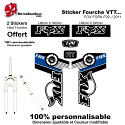 Sticker fourche FOX FORK F29 2011