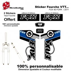 Sticker fourche FOX 40 FORK 2011