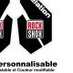 Sticker fourche Rock Shox Revolution Noir