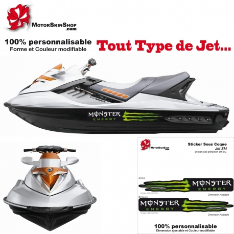 Sticker Jet Ski coque Monster Energy