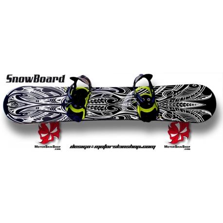 Sticker SnowBoard Maori