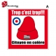 Sticker bonnet rouge citoyen