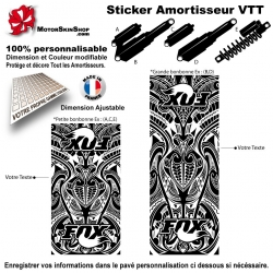 Sticker Amortisseur VTT FOX Tribal Bonbonne