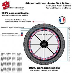 Sticker Intérieur Jante 50 à Boite drapeau Anglais