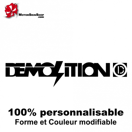 Sticker vélo Demolition BMX
