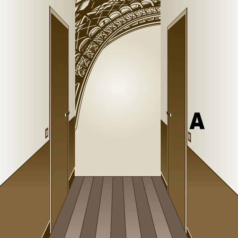 Sticker escalier couloir d coration trompe l 39 oeil - Sticker couloir ...
