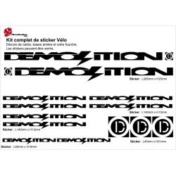 Sticker cadre BMX Demolition