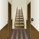 Sticker escalier couloir décoration trompe l'œil