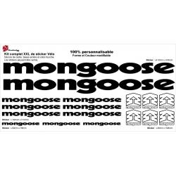 Sticker cadre Mongoose BMX Taille XXl