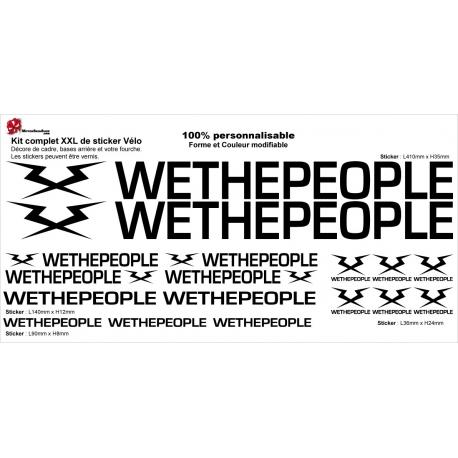 Sticker Kit cadre BMX Wethepeople Taille XXl