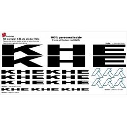 Sticker cadre KHE vélo BMX Taille XXl