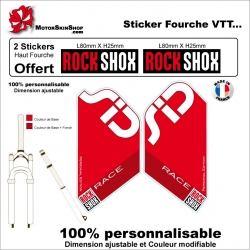 Sticker fourche Sid Rock Shox Race