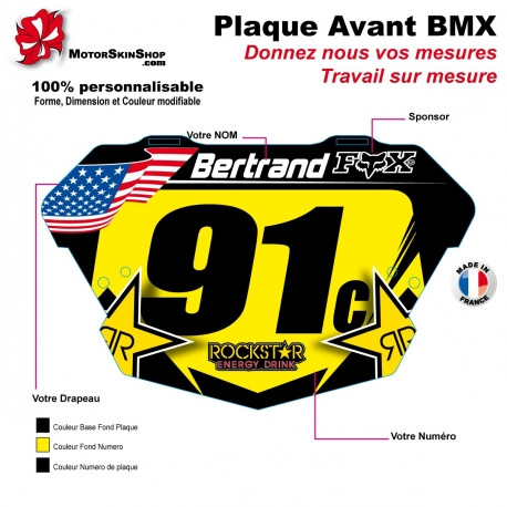 Sticker plaque BMX Rock Star