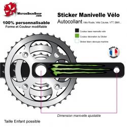 Sticker Manivelle Vélo Monster Energy