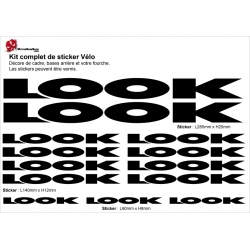 Sticker cadre vélo Look