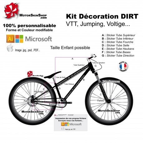 Impression de vos fichiers Sticker VTT Dirt