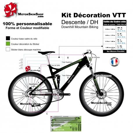 Sticker cadre VTT Descente Monster complet