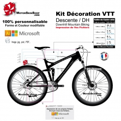 Impression de vos fichiers Sticker VTT Descente