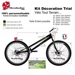 Sticker cadre Trial Vélo