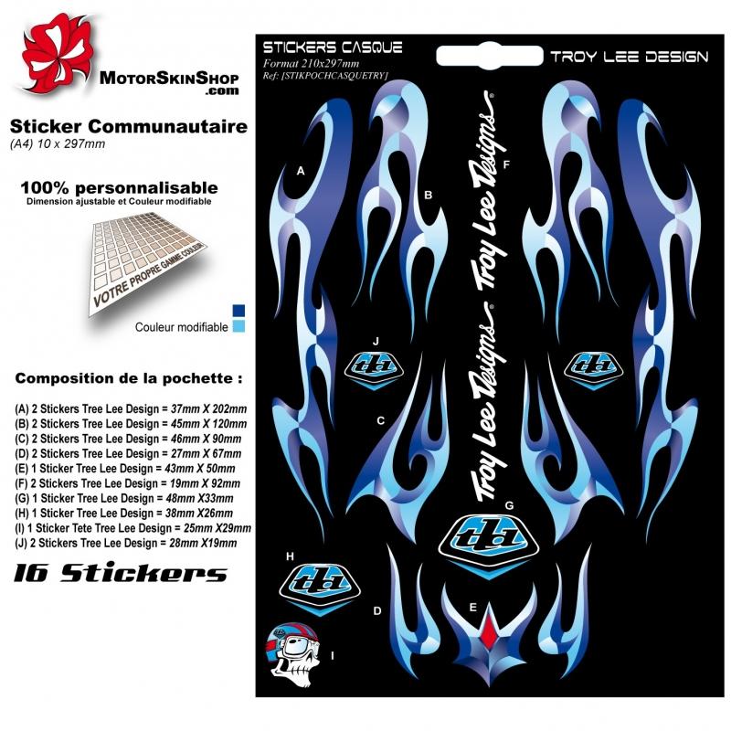 sticker casque troy lee designs. Black Bedroom Furniture Sets. Home Design Ideas