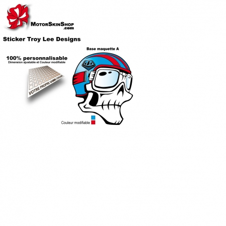 Sticker Décoration Casque Troy Lee Designs