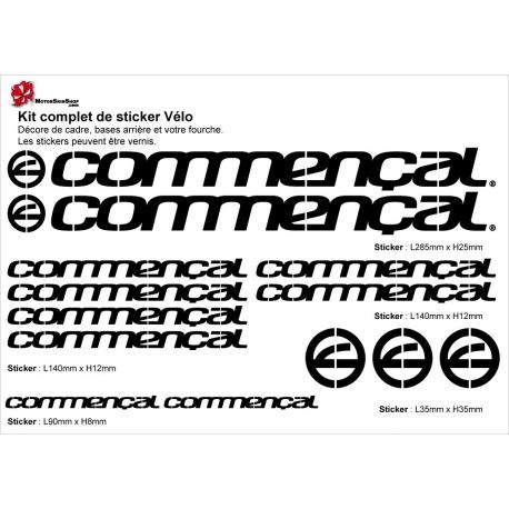 Sticker cadre Commençal