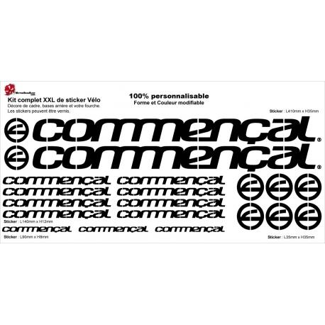 Sticker cadre Commençal Taille XXl