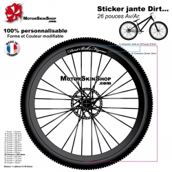 Sticker jante Dirt Bike Figeac VTT