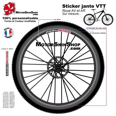 Sticker jante VTT RockSkox
