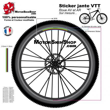 Sticker jante VTT Champion du Monde