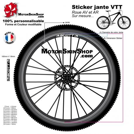Sticker jante VTT Fox Texte