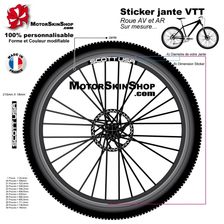 Sticker jante VTT Scott USA