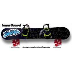 Sticker SnowBoard Swag Personnalisable