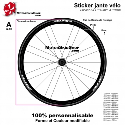 Sticker Zipp Carbonne