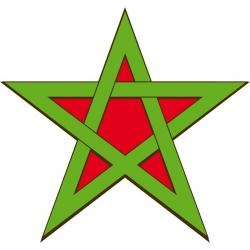 Etoile drapeau Marocain